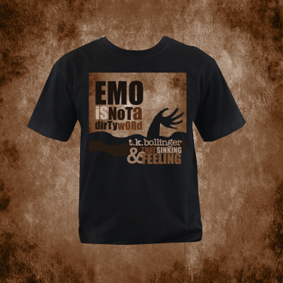 Emo is not a dirty word and band logo T-shirt